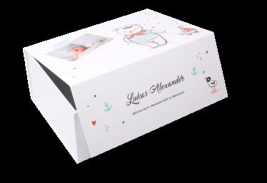 geschenkbox baby sailor weiß