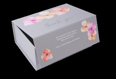 geschenkbox danke flora grau