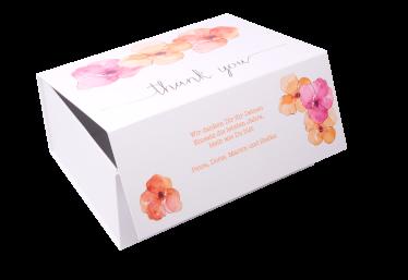 geschenkbox Danke Flora weiß