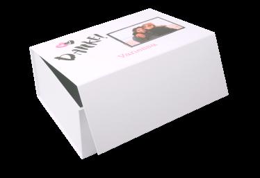 Geschenkbox Danke mit Foto weiß