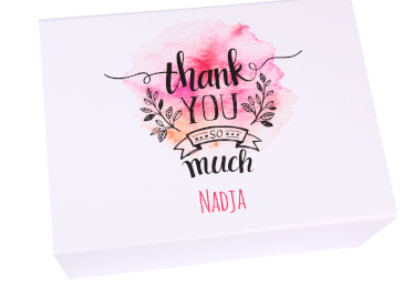 Geschenkbox danke thank you so much